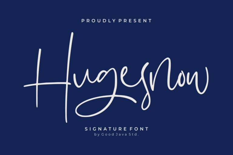 Preview image of Hugesnow – Signature Font