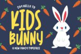 Last preview image of Kidsbunny Playful Font