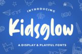 Last preview image of Kidsglow – Fun Font