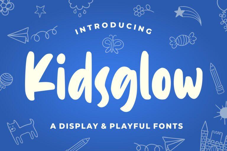 Preview image of Kidsglow – Fun Font