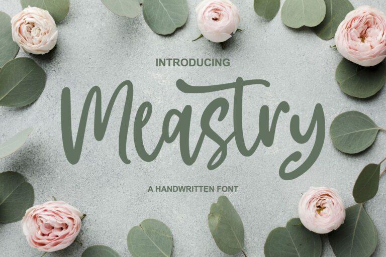 Meastry - A Handwritten Font