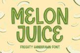 Last preview image of Melon Juice – Freshty Font