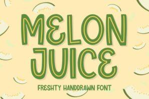 Melon Juice - Freshty Font