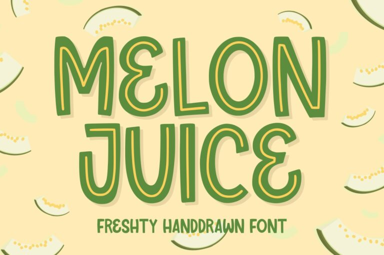 Preview image of Melon Juice – Freshty Font