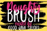 Last preview image of Naughty – Script brush
