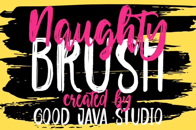 Preview image of Naughty – Script brush