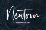Last preview image of Newtoon – Handwritten Font