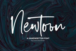 Newtoon - Handwritten Font