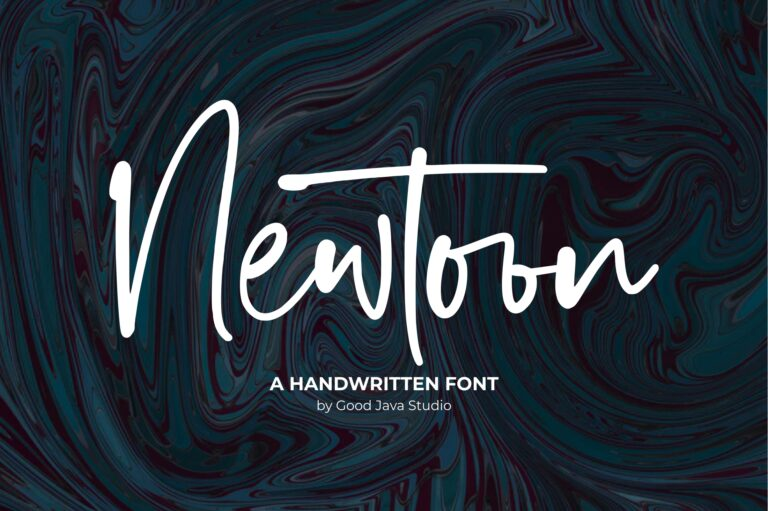 Preview image of Newtoon – Handwritten Font