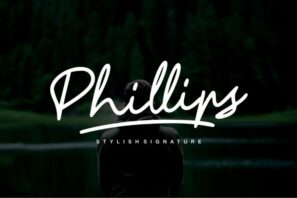 Phillips - Signature Font