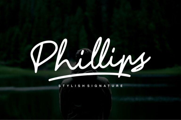 Preview image of Phillips – Signature Font