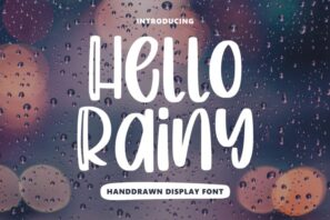 Hello Rainy - Quirky Handdrawn Font