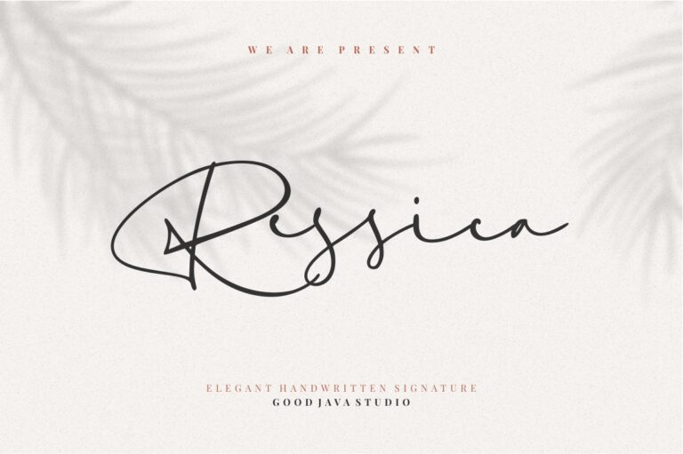 Preview image of Ressica – Modern Script
