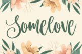 Last preview image of Somelove – Handlettering Font