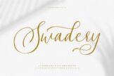 Last preview image of Swadery – Luxurious Font