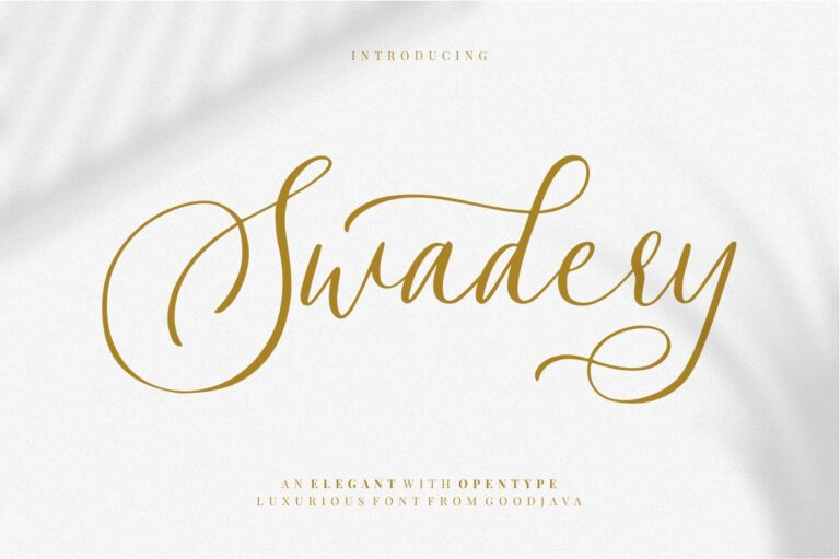 Preview image of Swadery – Luxurious Font