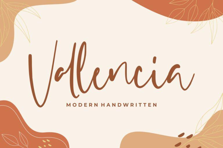 Vallencia - Modern Handwritten