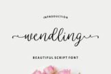 Last preview image of Wendling – Beautiful Script