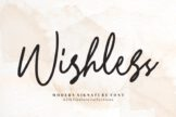 Last preview image of Wishless – Modern Signature Font