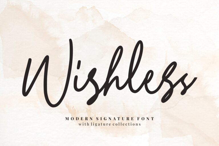 Preview image of Wishless – Modern Signature Font