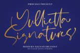 Last preview image of Yullietta – Modern Signature Font
