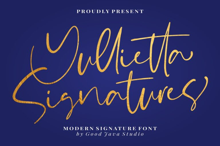 Preview image of Yullietta – Modern Signature Font