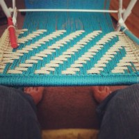 Saving an old lawn chair  GOODKNITS // a knitting