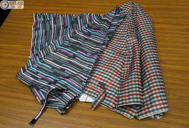 Leftover fabric from broken umbrellas...