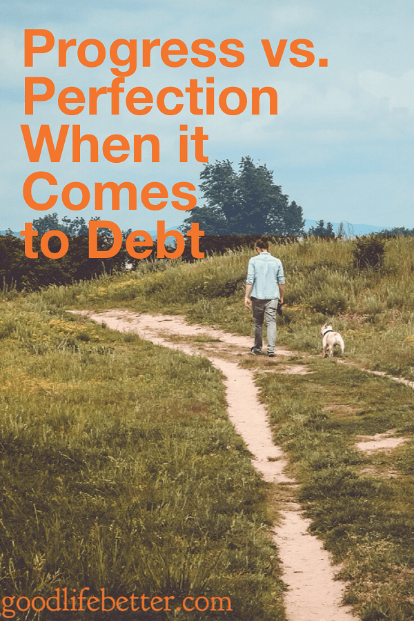 Being debt free is great but it is okay if you can't achieve that right now. Progress is better than standing still.