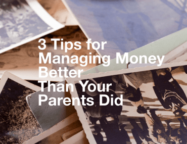 Great tips for overcoming poor money management lessons learned in childhood!