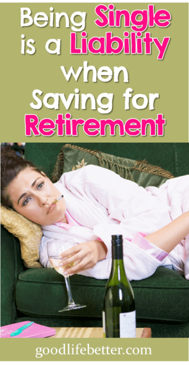 Being single is a liability when saving for retirement...if you let it be. #PersonalFinanceForWomen