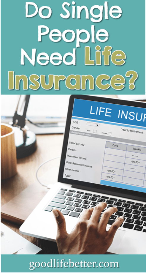 Not every adult needs life insurance--it's good to think through what's right for your circumstances before you spend money on premiums. #LifeInsurance #SingleWomen #GoodLifeBetter