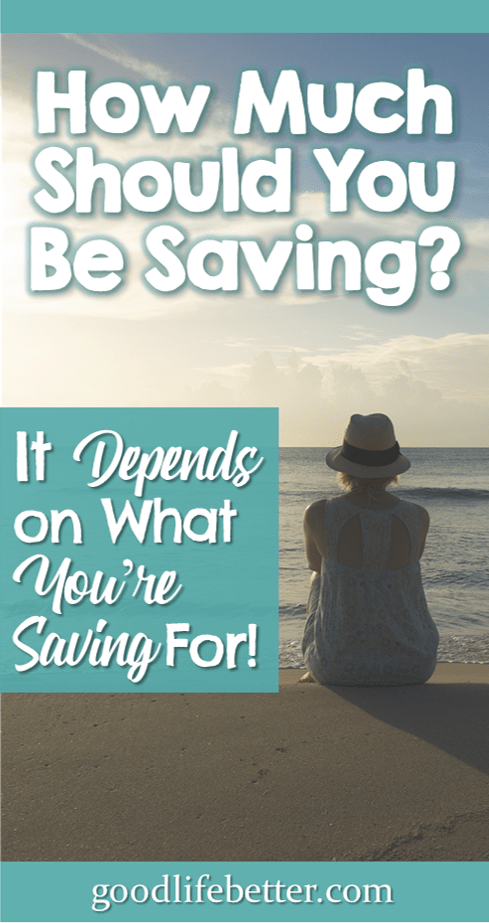 How Much Should You Be Saving?  It Depends on What You\'re Saving For