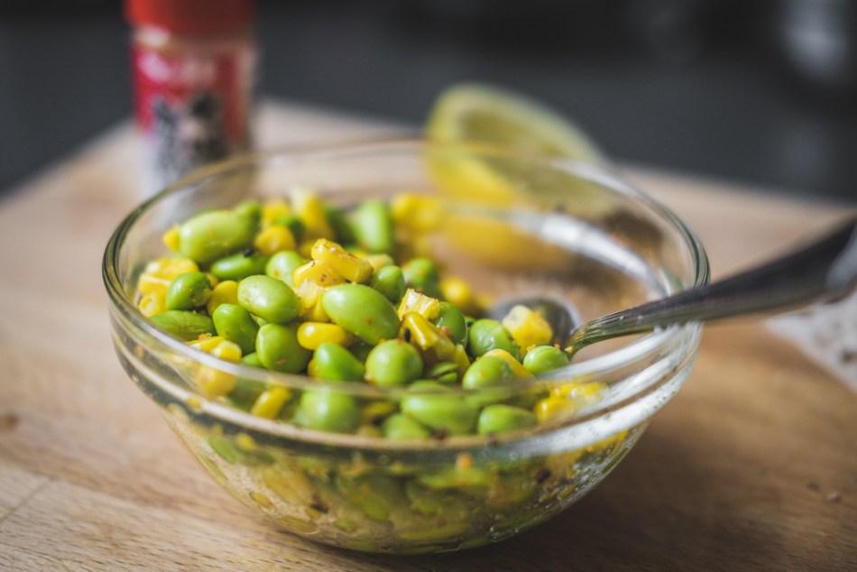 edamame and corn