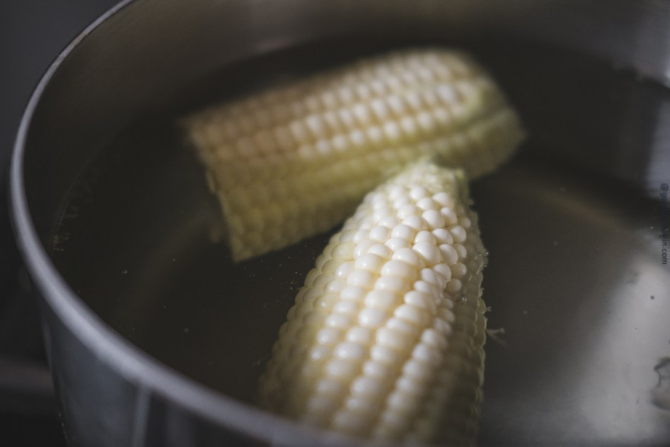 Boiling Corn on Cob