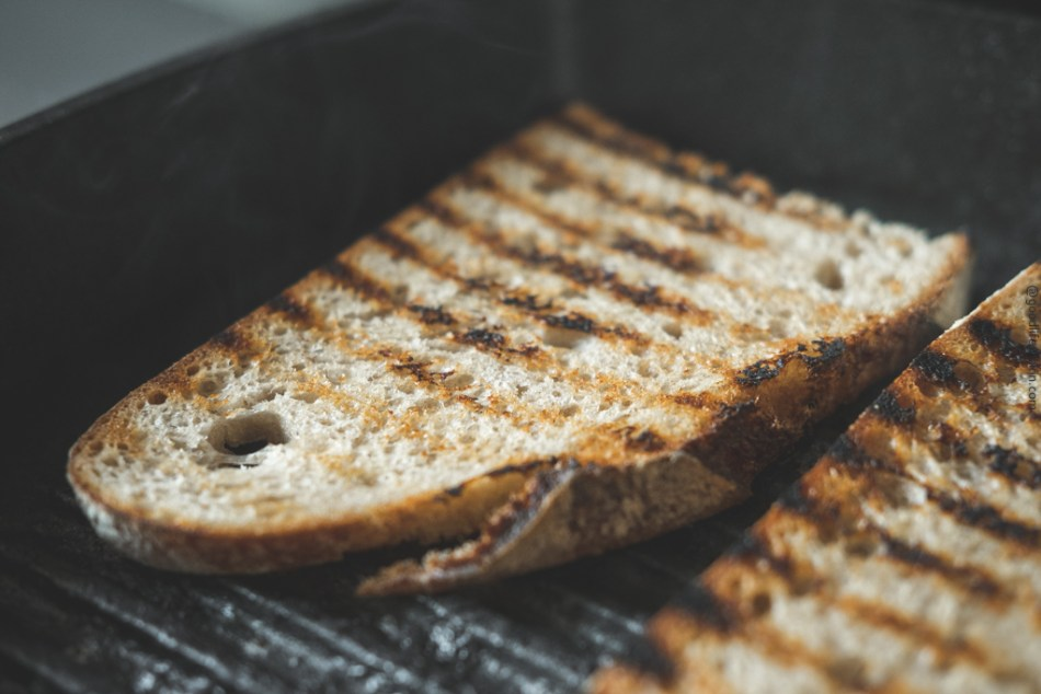 Grilled rustic bread
