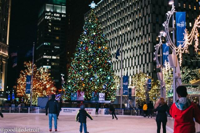 Campus Martius Christmas Tree