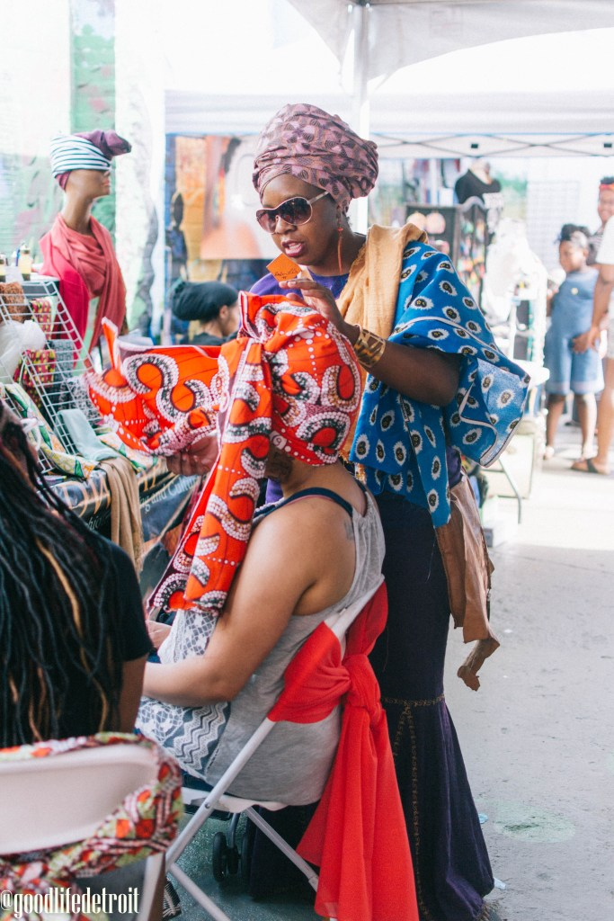 Zarinah El-Amin Naeem is the founder of Beautifully Wrapped Headwrap Expo in Detroit, Michigan. She creates many beautiful  headwrap styles for men and women.