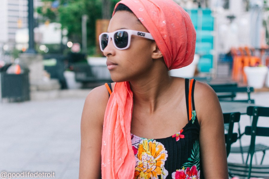 My daughter Michala also loves to wear headwrap styles.
