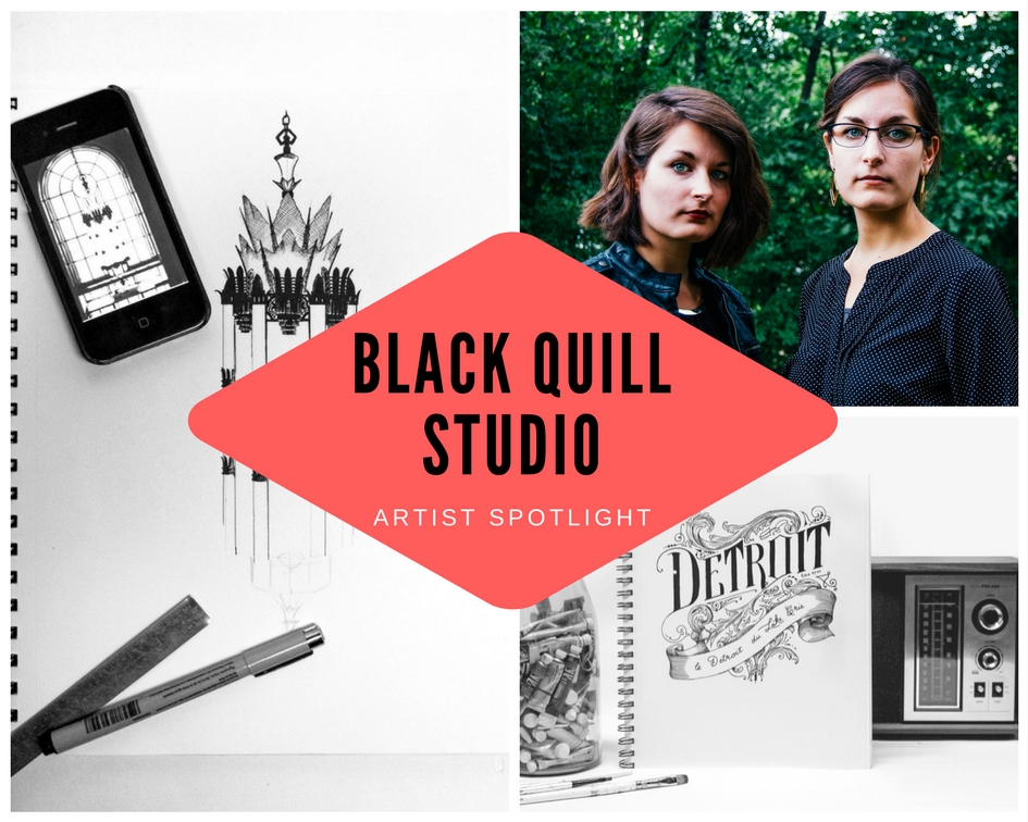 Artist Spotlight: Black Quill Studio, Modern Vintage Art Shop