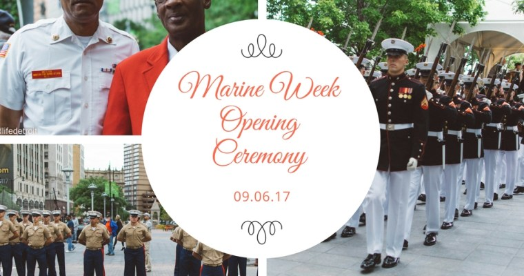 Snapshots Around Town: Marine Week Opening Ceremony