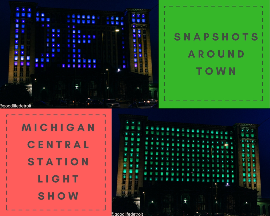 Michigan Central Station Light Show Was a Nice Surprise!