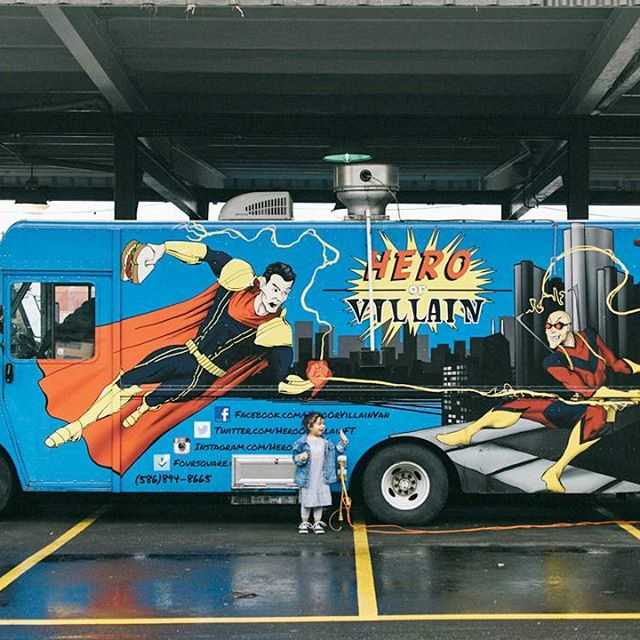 Hero or Villain Detroit Food Truck