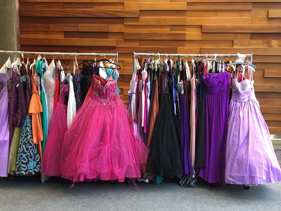 Hope Closet prom dress donations from Comerica Bank