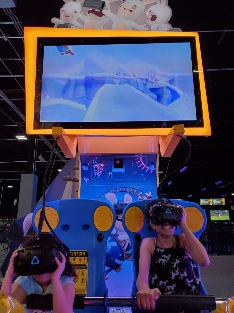 Raving Rabbids Virtual Reality game