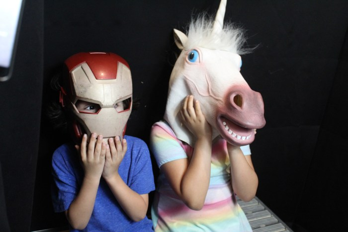 photo booth props Ironmand and horse