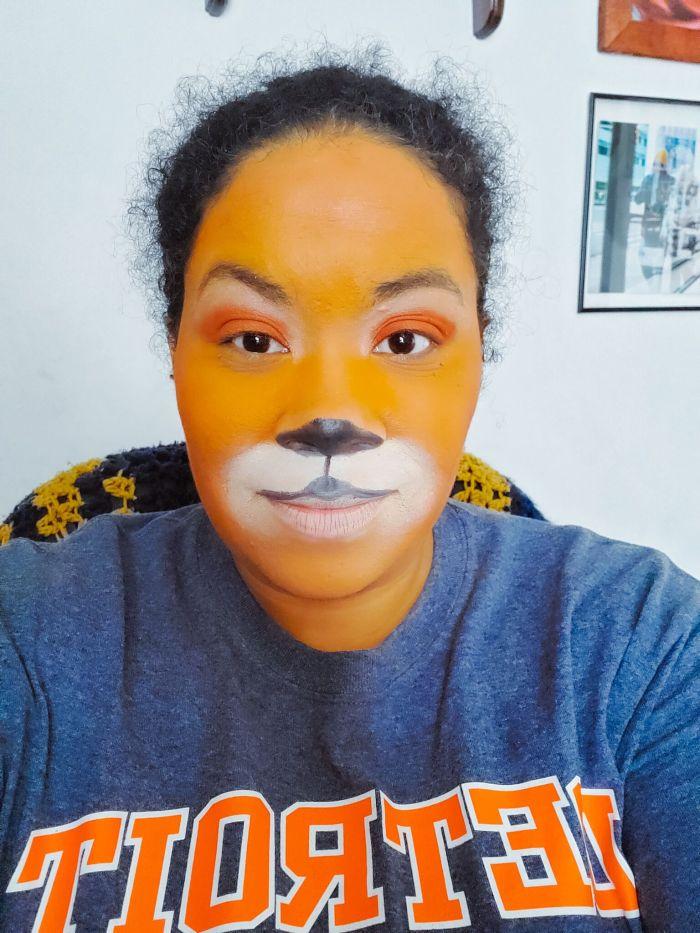 tiger Halloween makeup idea