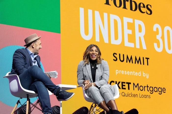 Serena Williams Forbes Under 30 Summit