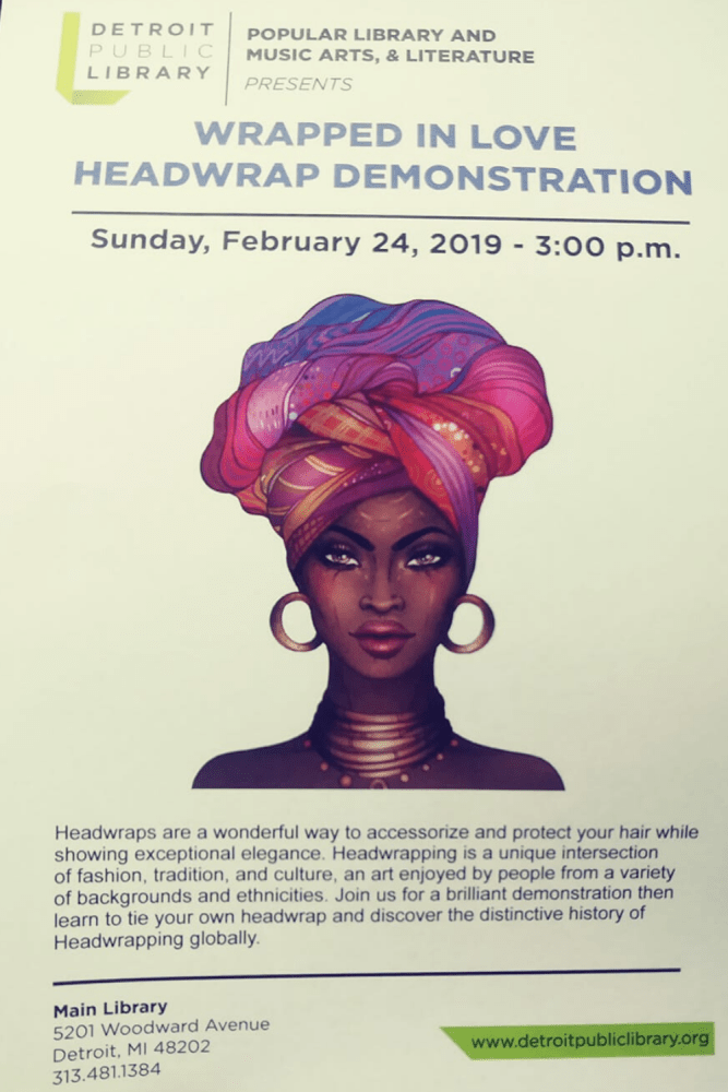 Detroit Headwrap Workshop