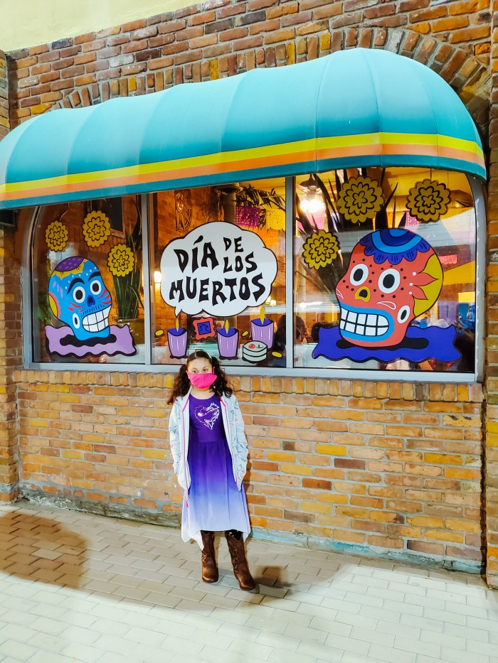 Dia de Los Muertos Window Art in Southwest Detroit, Michigan